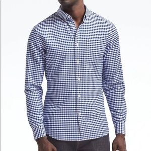 Banana Republic Grant fit oxford gingham